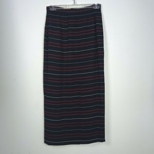 Chaus Skirt Black with Red White Stripes NWT
